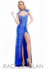 Rachel Allan 6938 Jeweled Collar Evening Dress