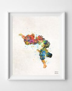 Ponyo Art Poster Print Watercolor Illustration by InkistPrints - Shipping Worldwide! [Click Photo for Details]