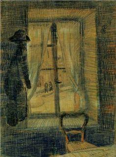 """1887 [Janela no restaurante de Bataille - """"Window in the Bataille Restaurant""""]"""