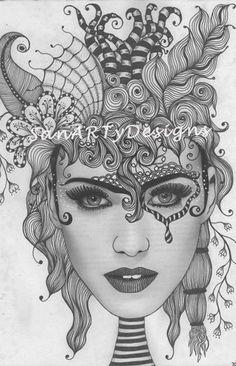 SanARTyDesigns: Doodling faces