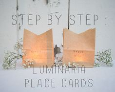 How to Make Luminaria Place Cards