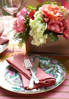 southern brunch details -Traditional Home