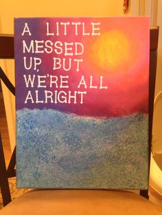 My sister made this (@paigekoenig). Inspired by the song American Kids by Kenny Chesney.