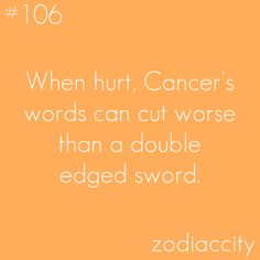 """""""when hurt, cancer's words can cut worse than a double edges sword"""" - well my fave threat is... """"i will cutchu"""""""