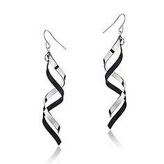 Earings #classy #black #white