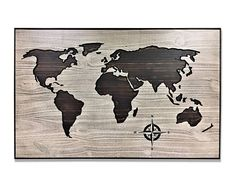 Carved wooden world map wood wall art world map home decor