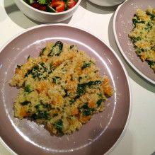 Pumpkin and kale quinoa risotto