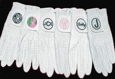 Women's & Men's Custom Monogrammed Golf Gloves