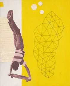 HANDSTAND  Print of Original Collage by papergarage on Etsy