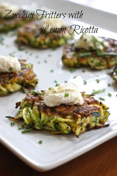 Zucchini Fritters with Lemon Ricotta | The Organic Kitchen Blog and Tutorials
