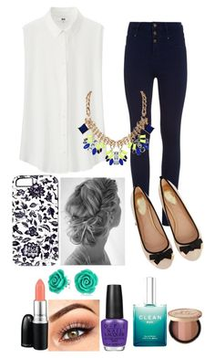 """""""Untitled #63"""" by movingtosydney ❤ liked on Polyvore featuring Uniqlo, Humble Chic, Oasis, OPI, MAC Cosmetics, CLEAN, Too Faced Cosmetics and Bling Jewelry"""