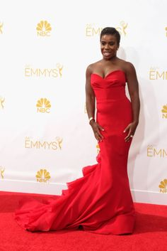 """B.A.E. Uzo Aduba (""""Crazy Eyes"""" from OINTB) at the Emmys 2014"""