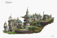 ArtStation - Elf Village, Yoonjung Ryu