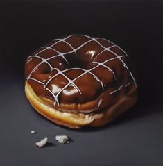 Chocolate doughnut by Lucy Crick Chocolate doughnut by Lucy Crick Hyper Realistic Paintings, Realistic Drawings, Doughnut Shop, Food Artists, Food Painting, Food Backgrounds, Painting Still Life, Food Drawing, Food Illustrations