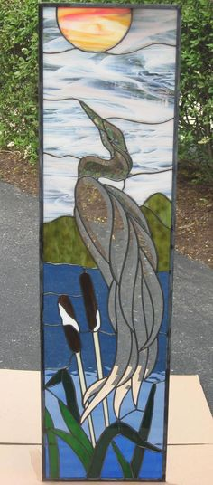 Donnell Lake Heron - Delphi Stained Glass i love  birds.