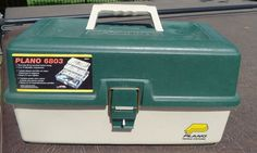"Plano 6803 Fishing Tackle Box 3 tray and 25 Compartments 16.5"" X 8.5"" X 8"" #Plano"