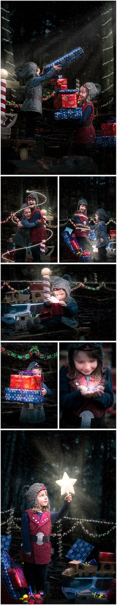 Christmas Elves: A simple guide on how to put together a Christmas Elf themed children's photo shoot with costume, prop and location ideas from findingstorybookland.com