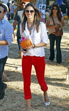 red pants outfit inspiration