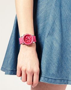 bright pink watch