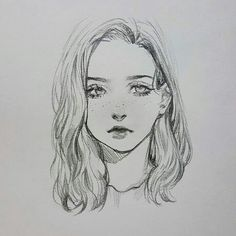 Fabulous Drawing On Creativity Ideas. Captivating Drawing On Creativity Ideas. Anime Drawings Sketches, Pencil Art Drawings, Anime Sketch, Cute Drawings, Drawing Faces, Art Tutorials, Digital Painting Tutorials, Arte Sketchbook, Anime Art Girl