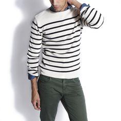 Pull marin Ecru Rayé homme – la mode homme sur Jules.com