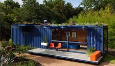 Container indretning til sommerhus