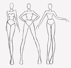 These are just a couple of poses i use for my fashion illustrations. They are far from being anatomically correct & are quite stylised but i figured they still might be of some use for someone....