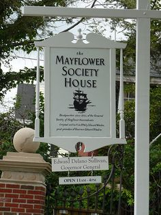 Mayflower Society House(We could join the Society on John Billington and Francis Billington, (our 10th and 9th Great Grandfathers.
