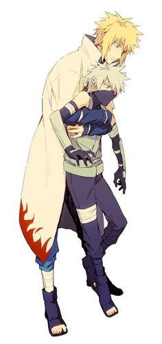 Naruto ships - Minato and Kakashi - Wattpad Naruto Kakashi, Gaara, Anime Naruto, Anime Chibi, Naruto Teams, Naruto Cute, Sarada Uchiha, Boruto, Manga Anime