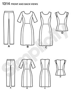 6/2014 Simplicity 1314 Pattern for Misses' Dress & Sportswear. Cynthia Rowley Collection | Simplicity