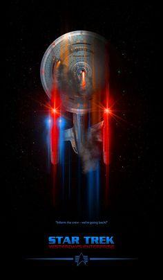 Star Trek Yesterday's Enterprise, by Lewis Niven Star Trek Enterprise, Nave Enterprise, Star Trek Starships, Star Trek Wallpaper, Star Wars, Star Trek Tos, Deep Space Nine, Star Trek Posters, Star Trek Gifts