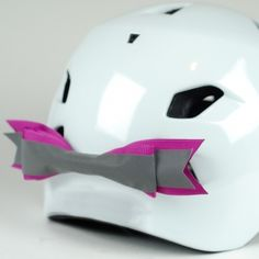 The ever popular Reflective bow, attaches to the helmet vents with velcro and come in lots of lovely colours £13.99