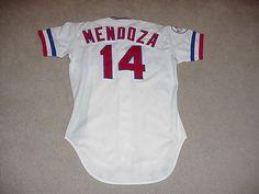 Mario Mendoza Game Worn Jersey 1982 Texas Rangers The Mendoza Line #TexasRangers