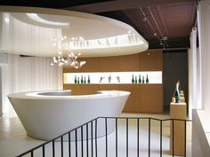 A stylish and modern salon lobby