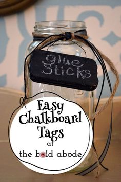 Easy Chalkboard Tags