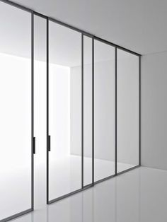 Tempered Glass Partition Wall GREENE By Boffi Design Piero Lissoni