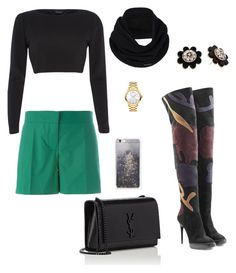 """""""Burberry with black"""" by beehazz on Polyvore featuring Burberry, River Island, Vanessa Bruno, Yves Saint Laurent, prAna, Skinnydip, Movado and Kate Spade"""