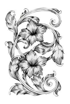 Pattern Drawing, Pattern Art, Solid Black, Black And White, Paisley Art, Black Leaves, Border Design, One Color, Wallpaper Backgrounds