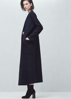Premium - long wool coat - Shoes for Women | MANGO USA