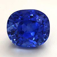 Unheated Untreated Kashmir color Blue Sapphire, from Sri Lanka. 4ct plus cushion cut.
