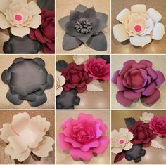 Decorative Paper Flowers by Gifted Occakesions n Baskets.