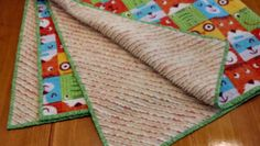 Another view of faux chenille charity baby blanket