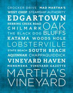Martha's Vineyard Poster 11x14 by WeAreBornAndRaised on Etsy,