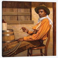 African American Artist, American Artists, African Art, African History, Thomas Blackshear, Westerns, Black Cowboys, Real Cowboys, Cowboy Art