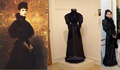 Sisi's black visiting dress, inspired by Gyula Benczúr portrait