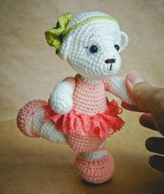 Teddy ballet bailarina patrón de ganchillo - Amigurumi Hoy