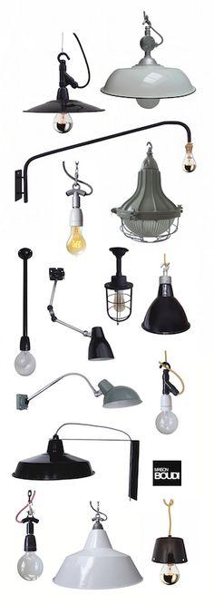 GENUINE MID CENTURY INDUSTRIAL LIGHTING www.boudi.co.nz