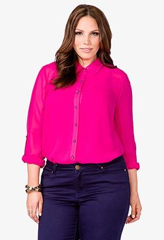 Fancy Pleated Back Shirt | FOREVER21 PLUS - 2000049393