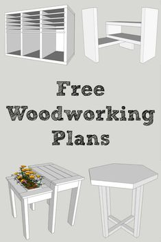 Want easy-to-read free woodworking plans? Sign up at The Handyman's Daughter and get access to all the plans in her woodworking plans library! Download and print the PDF of each project, check out the step-by-step photo tutorial, and get building!