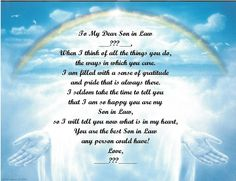 Christmas/Birthday Gift For Son in Law Personalized Poem ...